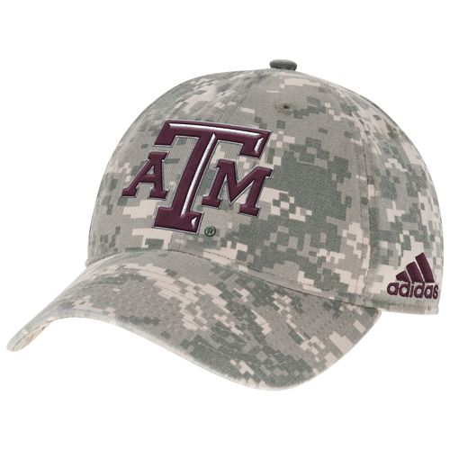 adidas™ Men's Texas A&M University Digital Camo Adjustable Slouch Cap