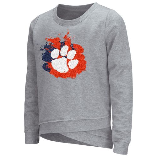 Colosseum Athletics™ Girls' Clemson University Alaia Long Sleeve Pullover