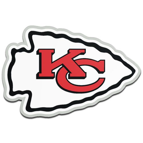 Stockdale Kansas City Chiefs Acrylic Metallic Freeform Auto Emblem