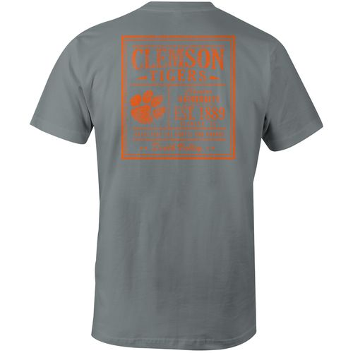Image One Men's Clemson University Comfort Color Vintage Poster Short Sleeve T-shirt