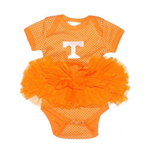 Two Feet Ahead Infants' University of Tennessee Pin Dot Tutu Creeper