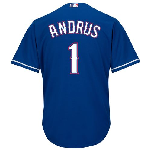 Majestic Men's Texas Rangers Elvis Andrus #1 Cool Base Replica Jersey