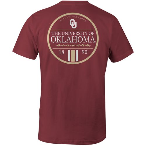 Image One Men's University of Oklahoma Simple Circle Lines Comfort Color T-shirt