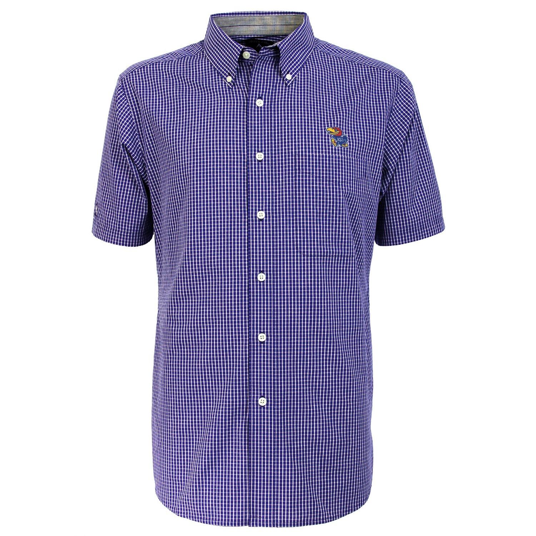 Antigua Men's University of Kansas League Short Sleeve Shirt - view number 2