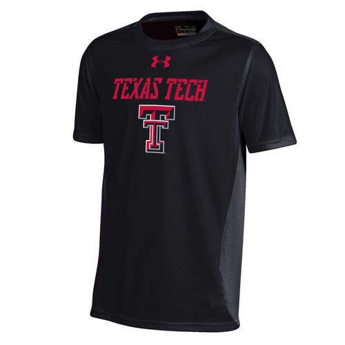 Under Armour Boys' Texas Tech University Short Sleeve Colorblock T-shirt