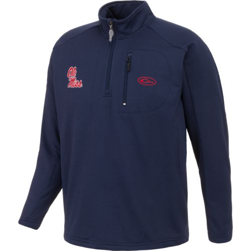 Drake Waterfowl Men's University of Mississippi BreathLite 1/4 Zip Pullover