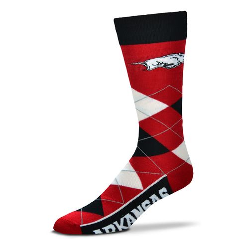 FBF Originals Adults' University of Arkansas Team Pride Flag Top Dress Socks