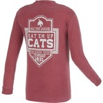 Image One Men's Texas State University Finest Shield Comfort Color Long Sleeve T-shirt