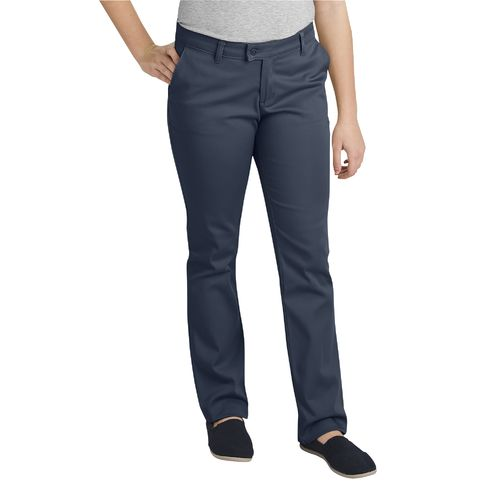 Dickies Juniors' Schoolwear Slim Fit Straight Leg Stretch Uniform Pant