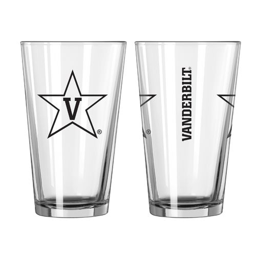 Boelter Brands Vanderbilt University Game Day 16 oz. Pint Glasses 2-Pack