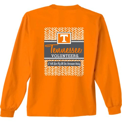 New World Graphics Women's University of Tennessee Herringbone Long Sleeve T-shirt