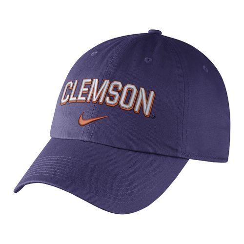 Nike Men's Clemson University Heritage86 Wordmark Swoosh Flex Cap