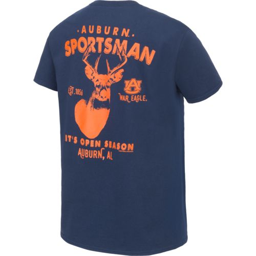 New World Graphics Men's Auburn University Open Season Deer T-shirt