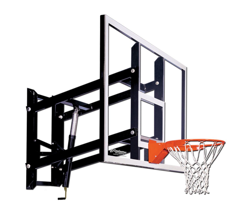 Goalsetter 72 In Wall Mounted Tempered Glass Basketball Hoop