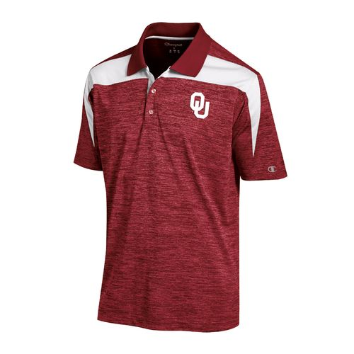 Display product reviews for Champion™ Men's University of Oklahoma Synthetic Colorblock Polo Shirt