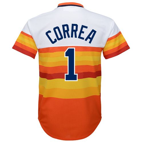 MLB Boys' Houston Astros Cooperstown Carlos Correa Cool Base Jersey