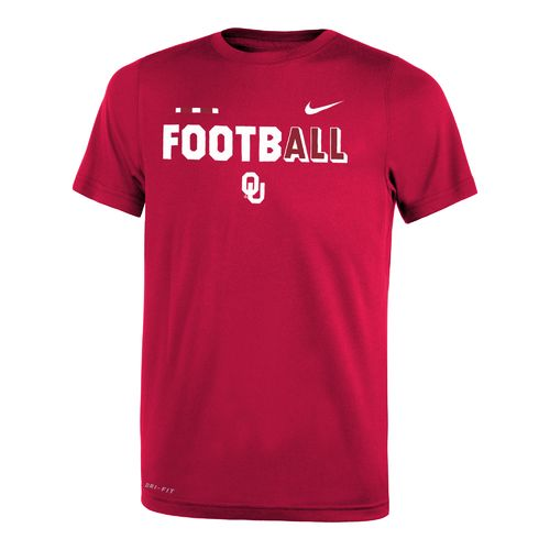 Nike Boys' University of Oklahoma Legend Football T-shirt