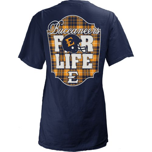 Three Squared Juniors' East Tennessee State University Team For Life Short Sleeve V-neck T-shirt