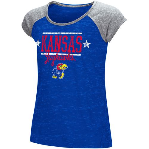 Colosseum Athletics Girls' University of Kansas Sprints T-shirt - view number 1