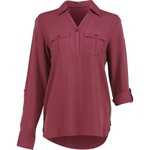 Magellan Outdoors Women's Adventure Gear Long Sleeve Henley Shirt - view number 3