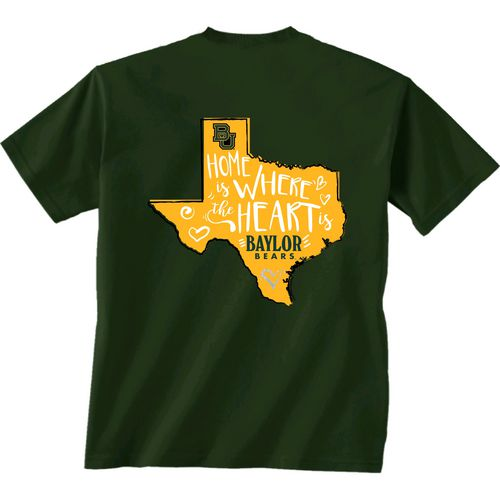 New World Graphics Girls' Baylor University Where the Heart Is Short Sleeve T-shirt