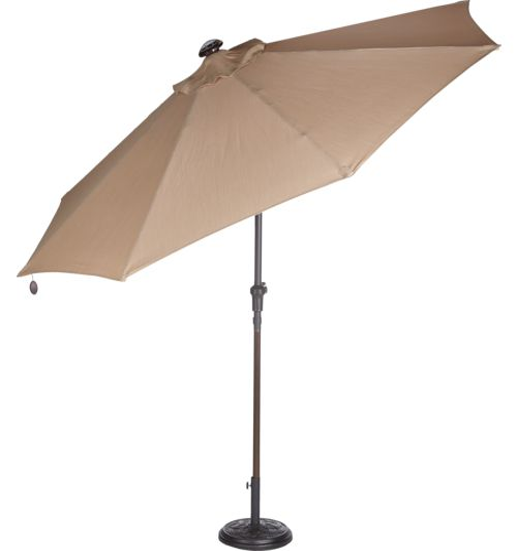 Mosaic 9 Ft Solar Light Umbrella
