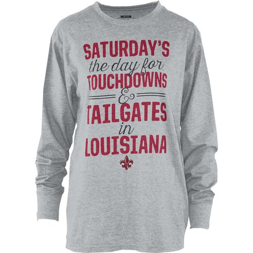 Three Squared Juniors' University of Louisiana at Lafayette Touchdowns and Tailgates T-shirt