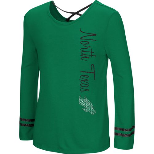 Colosseum Athletics Girls' University of North Texas Marks the Spot Strappy Back Long Sleeve T-shirt