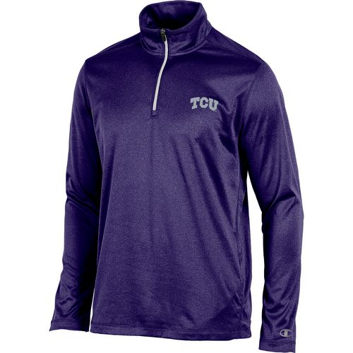 Champion Men's Texas Christian University Victory 1/4 Zip Long Sleeve Pullover