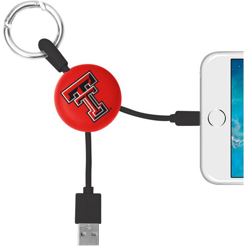 Mizco Texas Tech University Lightening Phone Charger Keychain Cable