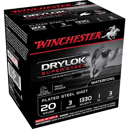 Winchester Super-X Drylok Super Steel Waterfowl Load 20 Gauge Shotshells