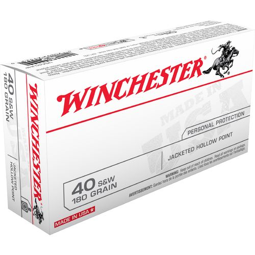 Winchester USA JHP .40 Smith & Wesson 180-Grain