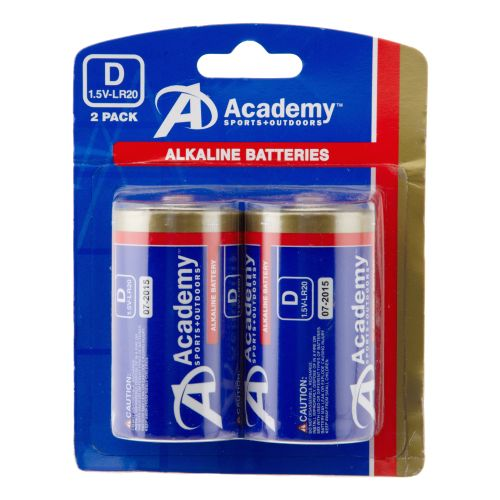 Image for Academy D-Cell Batteries 2-Pack from Academy