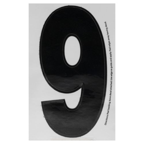 "Hardline Products® Dyer 3"" Number 9 Decal"