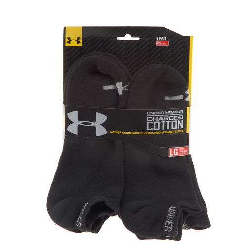 Under Armour Adults' Charged Cotton No Show Socks - view number 2