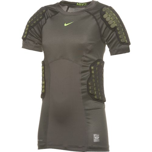 Nike Youth Pro Combat Hyperstrong Compression Vis Football Rib Top