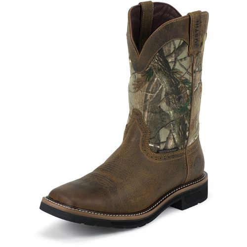 Display product reviews for Justin Men's Rugged Cowhide Waterproof Wellington Work Boots
