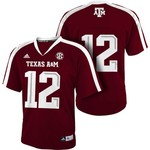 adidas™ Boys' Texas A&M University #12 Team Color Replica Jersey