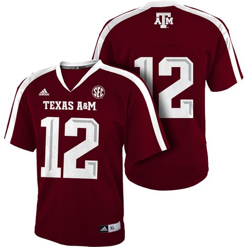 adidas™ Boys' Texas A&M University #12 Team Color