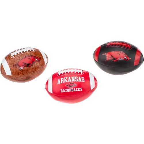 Rawlings® University of Arkansas 3rd Down Softee Footballs 3-Pack