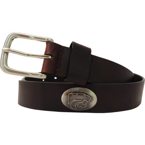 CLC Men's Kansas State University Leather Concho Belt