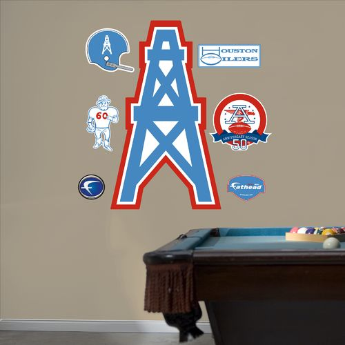 Fathead Houston Oilers Original AFL Logo and Team Decals 7-Pack