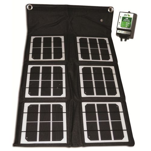 Nature Power 18W Folding Solar Panel with 8 Amp Charge Controller