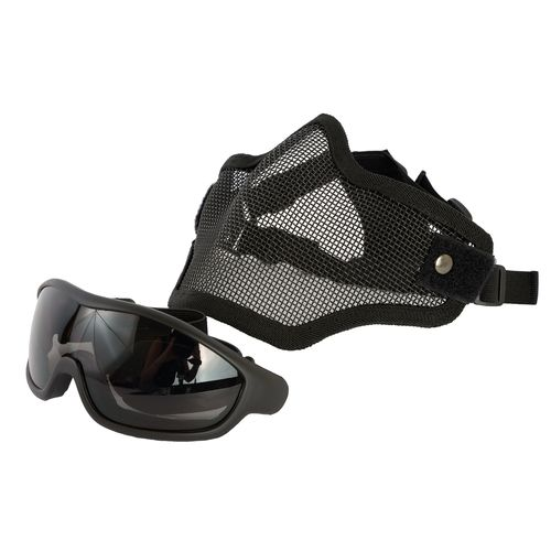 Swiss Arms Wire Mesh Mask with Tactical Goggles