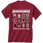 New World Graphics Men's University of Arkansas Schedule T-shirt