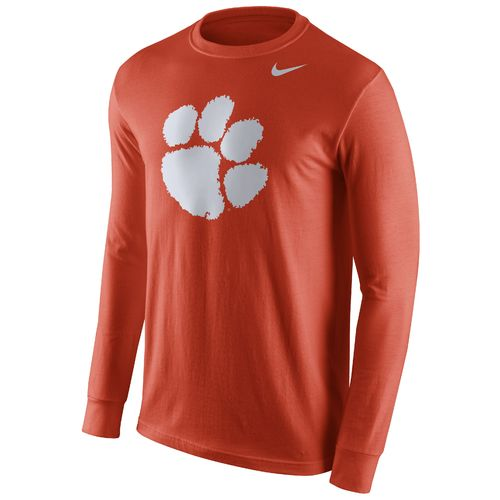 Nike™ Men's Clemson University Cotton Long Sleeve Logo