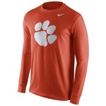 Nike Men's Clemson University Cotton Long Sleeve Logo T-shirt