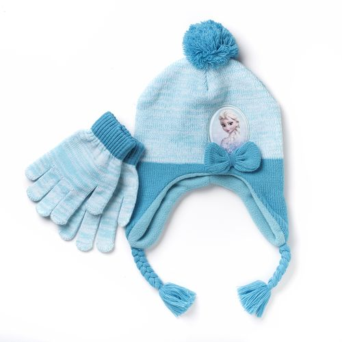 Disney Girls' Frozen Cold Weather Hat and Glove Set