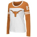 Colosseum Athletics Women's University of Texas Hornet Long Sleeve Football T-shirt