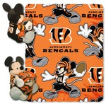 The Northwest Company Cincinnati Bengals Mickey Mouse Hugger and Fleece Throw Set